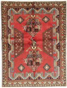 Afshar Matta 155X210 Äkta Orientalisk Handknuten Roströd/Mörkbrun (Ull, Persien/Iran)
