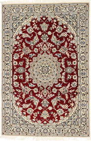 Nain 9La Rug 113X176 Authentic  Oriental Handknotted Dark Red/Light Brown (Wool/Silk, Persia/Iran)