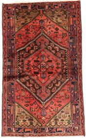 Hamadan Matta 124X208 Äkta Orientalisk Handknuten Mörkröd/Brun (Ull, Persien/Iran)