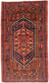 Hamadan Alfombra 143X247 Oriental Hecha A Mano Óxido/Roja/Rojo Oscuro (Lana, Persia/Irán)