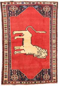Ghashghai Tapijt 113X169 Echt Oosters Handgeknoopt Roestkleur/Oranje (Wol, Perzië/Iran)