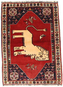 Qashqai Rug 107X151 Authentic  Oriental Handknotted Dark Red/Rust Red (Wool, Persia/Iran)