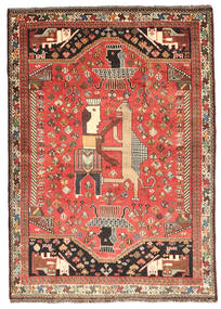 Qashqai Rug 115X165 Authentic  Oriental Handknotted Dark Brown/Light Brown (Wool, Persia/Iran)