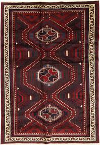 Lori Matta 170X254 Äkta Orientalisk Handknuten Mörkröd (Ull, Persien/Iran)