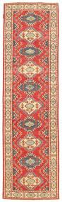 Kazak Rug 79X293 Authentic  Oriental Handknotted Hallway Runner  Rust Red/Brown (Wool, Pakistan)