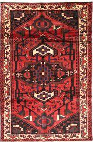 Lori Rug 158X255 Authentic  Oriental Handknotted Rust Red/Dark Red/Dark Brown (Wool, Persia/Iran)