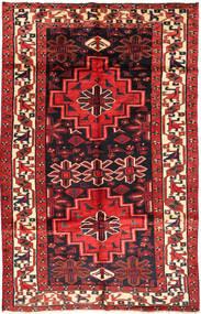 Lori Matta 155X245 Äkta Orientalisk Handknuten Mörkgrön/Mörkröd (Ull, Persien/Iran)