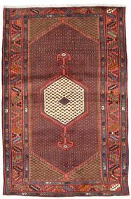 Zanjan Tapijt 131X198 Echt Oosters Handgeknoopt Donkerrood/Donkerbruin (Wol, Perzië/Iran)