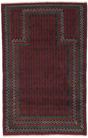 Baluch Rug 84X136 Authentic  Oriental Handknotted Black/Dark Red (Wool, Afghanistan)
