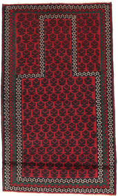 バルーチ 絨毯 82X142 オリエンタル 手織り 黒/深紅色の (ウール, アフガニスタン)