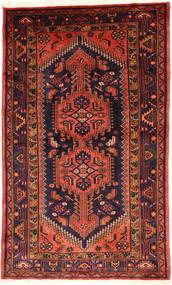 Zanjan Matto 135X228 Itämainen Käsinsolmittu Tummanpunainen/Tummanvihreä (Villa, Persia/Iran)