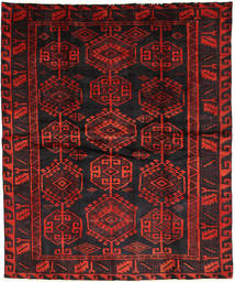 Lori Matta 177X214 Äkta Orientalisk Handknuten Svart/Mörkröd (Ull, Persien/Iran)