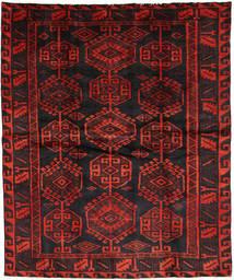 Lori Rug 177X214 Authentic  Oriental Handknotted Black/Dark Red (Wool, Persia/Iran)