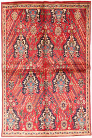 Afshar Rug 146X227 Authentic Oriental Handknotted Rust Red/Light Pink (Wool, Persia/Iran)