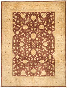 Ziegler Rug 273X359 Authentic  Oriental Handknotted Dark Beige/Light Brown Large (Wool, Pakistan)