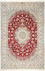 Nain 9La Signed: Ghambari Rug 196X300 Authentic  Oriental Handknotted Beige/Light Brown (Wool/Silk, Persia/Iran)