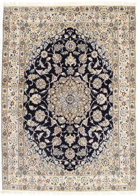 Nain 9La Dywan 155X212 Orientalny Tkany Ręcznie Jasnoszary/Ciemnozielony (Wełna/Jedwab, Persja/Iran)