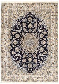 Nain 9La Matta 155X212 Äkta Orientalisk Handknuten Ljusgrå/Beige/Svart (Ull/Silke, Persien/Iran)