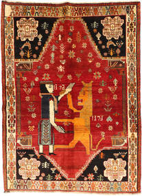 Ghashghai Tapijt 153X208 Echt Oosters Handgeknoopt Roestkleur/Oranje (Wol, Perzië/Iran)