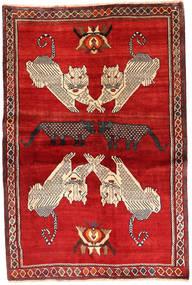 Kaszkaj Dywan 133X198 Orientalny Tkany Ręcznie Rdzawy/Czerwony/Beżowy (Wełna, Persja/Iran)
