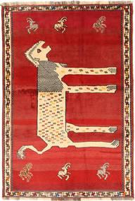 Ghashghai Teppich  144X210 Echter Orientalischer Handgeknüpfter Rost/Rot/Beige (Wolle, Persien/Iran)