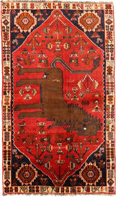Qashqai Rug 130X220 Authentic  Oriental Handknotted Rust Red/Dark Brown (Wool, Persia/Iran)