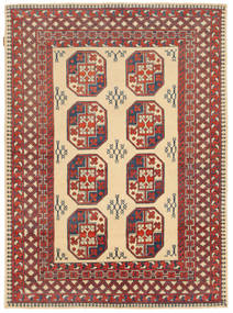 Kazak Rug 146X202 Authentic  Oriental Handknotted Brown/Dark Beige (Wool, Pakistan)