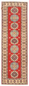 Kazak Matta 89X287 Äkta Orientalisk Handknuten Hallmatta Ljusbrun/Brun (Ull, Pakistan)