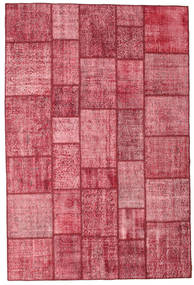 Patchwork Rug 200X300 Authentic  Modern Handknotted Pink/Dark Red (Wool, Turkey)