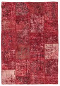 Patchwork Szőnyeg 158X230 Modern Csomózású Sötétpiros/Piros (Gyapjú, Törökország)