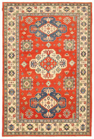 Kazak Tapis 200X306 D'orient Fait Main Orange/Marron Clair (Laine, Pakistan)