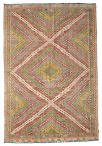 Kilim semi antique Turkish carpet XCGZF908