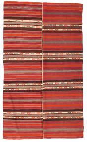 Kilim semi antique Turkish carpet XCGZF886