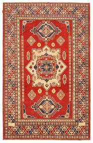 Kazak Teppich 197X308 Echter Orientalischer Handgeknüpfter Rost/Rot/Hellbraun (Wolle, Pakistan)
