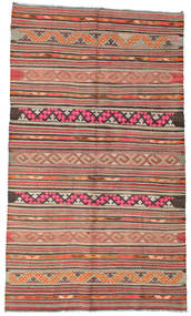Kilim Semi Antique Turkish Rug 157X271 Authentic  Oriental Handwoven Light Brown/Brown (Wool, Turkey)