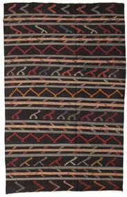 Kilim Semi-Antichi Turchi Tappeto 212X344 Orientale Tessuto A Mano Marrone Scuro/Marrone Chiaro (Lana, Turchia)
