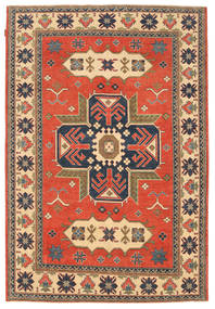 Kazak Rug 183X277 Authentic  Oriental Handknotted Light Brown/Orange (Wool, Pakistan)