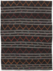 Kilim Semi Antique Turkish Rug 239X323 Authentic  Oriental Handwoven Black/Dark Grey (Wool, Turkey)
