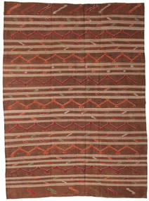 Kilim semi antique Turkish carpet XCGZF1354