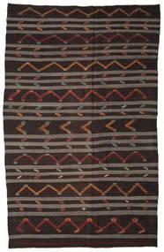 Kilim Semi Antique Turkish Rug 240X380 Authentic  Oriental Handwoven Dark Brown/Brown (Wool, Turkey)