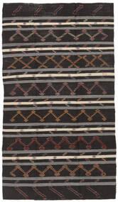 Kilim Semi-Antique Turquie Tapis 199X348 D'orient Tissé À La Main Marron Foncé/Gris Foncé (Laine, Turquie)