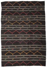 Κιλίμ Ημιπολύτιμα Λόγω Παλαιότητας Τουρκία Χαλι 248X357 Ανατολής Χειροποίητη Ύφανση Σκούρο Καφέ/Σκούρο Γκρι (Μαλλί, Τουρκικά)