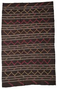 Kelim Halbantik Türkei Teppich  228X354 Echter Orientalischer Handgewebter Dunkelbraun/Braun (Wolle, Türkei)