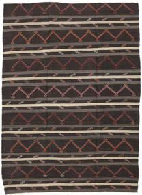 Kelim Semiantik Tyrkiet Tæppe 232X337 Ægte Orientalsk Håndvævet Mørkebrun/Brun (Uld, Tyrkiet)