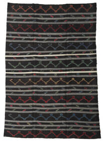 Kilim Semi Antique Turkish Rug 245X340 Authentic  Oriental Handwoven Black/Light Brown (Wool, Turkey)