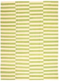 Kelim Moderni Matto 215X286 Moderni Käsinkudottu Vaaleanvihreä/Beige/Keltainen (Villa, Afganistan)