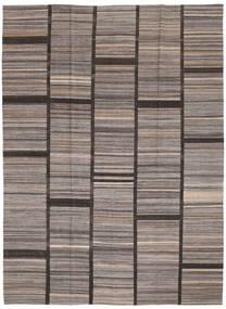 キリム モダン 絨毯 212X289 モダン 手織り 薄い灰色/濃い茶色 (ウール, アフガニスタン)