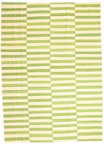キリム モダン 絨毯 206X285 モダン 手織り ライトグリーン/ベージュ/黄色 (ウール, アフガニスタン)