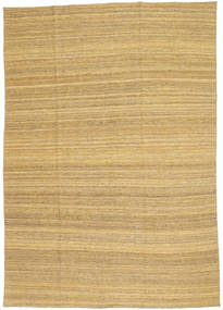 Kilim Modern Rug 199X283 Authentic  Modern Handwoven Dark Beige/Light Brown (Wool, Afghanistan)