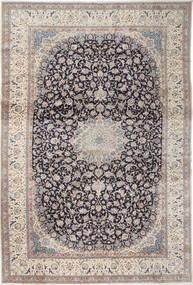 Nain 9La Dywan 408X610 Orientalny Tkany Ręcznie Jasnoszary/Jasnobrązowy Duży (Wełna/Jedwab, Persja/Iran)